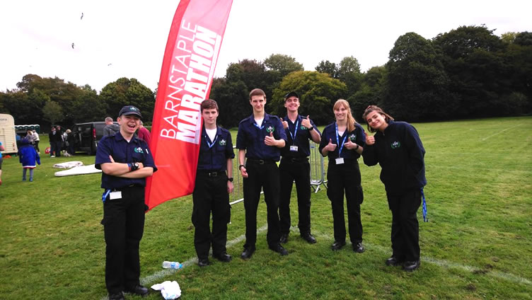 999 Academy Students Support Community Events, Barnstaple